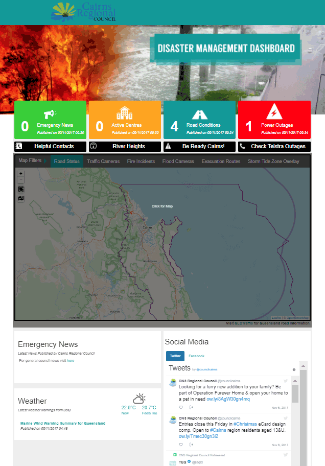 Cairns Disaster Dashboard