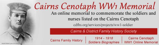 Cairns Cenotaph WW1 Memorial