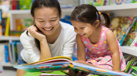 F5F Mother and child reading
